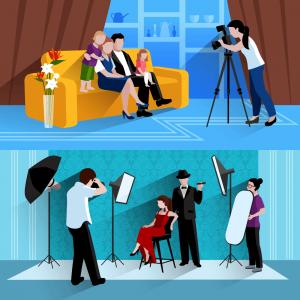 Foto-Shooting zu Hause und im Studio