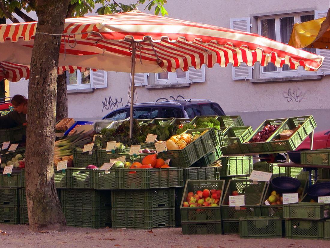 Feedback zu biografischen Dokumentationen auf dem Markt in Freiburg